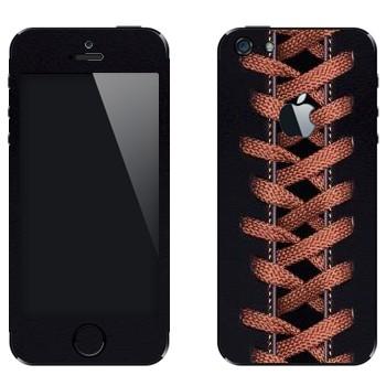 Виниловая наклейка «Шнуровка» на телефон Apple iPhone 5