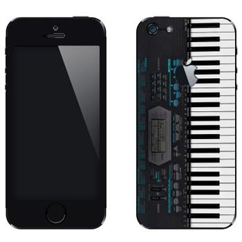 Виниловая наклейка «Синтезатор» на телефон Apple iPhone 5