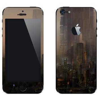 Виниловая наклейка «Сосуществование миров» на телефон Apple iPhone 5