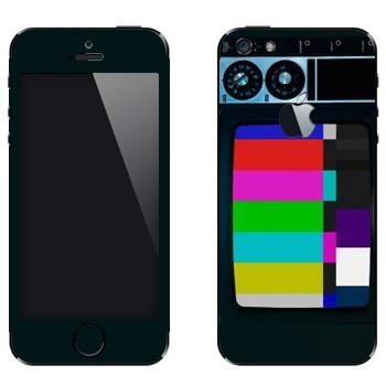 Виниловая наклейка «Старый телевизор» на телефон Apple iPhone 5