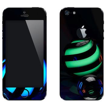 Виниловая наклейка «Стеклянные шарики» на телефон Apple iPhone 5