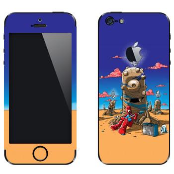 Виниловая наклейка «Странная пустыня» на телефон Apple iPhone 5