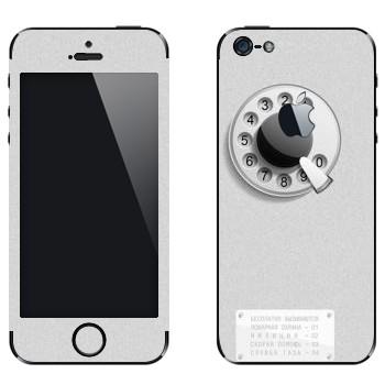 Виниловая наклейка «Таксофон» на телефон Apple iPhone 5