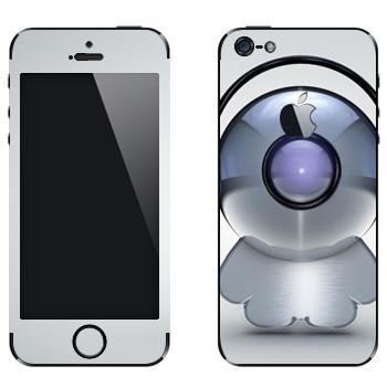 Виниловая наклейка «Техно-человечек в наушниках» на телефон Apple iPhone 5