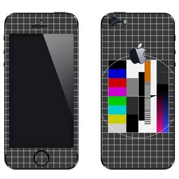 Виниловая наклейка «Телевизионная испытательная таблица» на телефон Apple iPhone 5