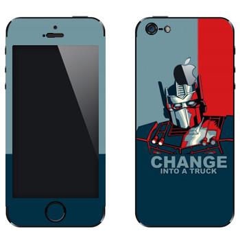 Виниловая наклейка «Трансформер : Change into a truck» на телефон Apple iPhone 5