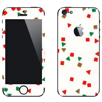 Виниловая наклейка «Треугольники и квадраты - Georgiana Paraschiv» на телефон Apple iPhone 5