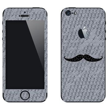 Виниловая наклейка «Усы» на телефон Apple iPhone 5