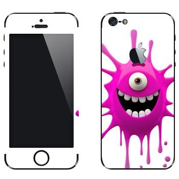 Виниловая наклейка «Веселая клякса» на телефон Apple iPhone 5