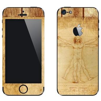 Виниловая наклейка «Витрувианский человек» на телефон Apple iPhone 5