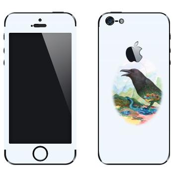 Виниловая наклейка «Ворона - Kisung» на телефон Apple iPhone 5