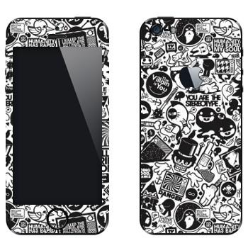 Виниловая наклейка «Все твои друзья - Зомби» на телефон Apple iPhone 5