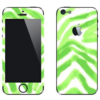 Виниловая наклейка «Зеленые разводы - Georgiana Paraschiv» на телефон Apple iPhone 5