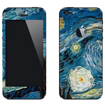 Виниловая наклейка «Звёздная ночь» на телефон Apple iPhone 5