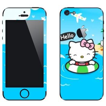 Виниловая наклейка «Hello Kitty на море» на телефон Apple iPhone 5