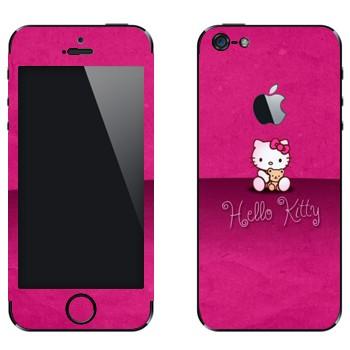 Виниловая наклейка «Hello Kitty на розовом» на телефон Apple iPhone 5