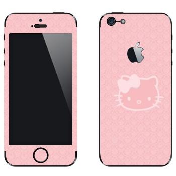Виниловая наклейка «Hello Kitty прозрачная» на телефон Apple iPhone 5