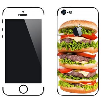 Виниловая наклейка «Биг-биг-биг гамбургер» на телефон Apple iPhone 5