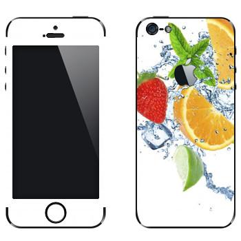 Виниловая наклейка «Фруктовая свежесть» на телефон Apple iPhone 5