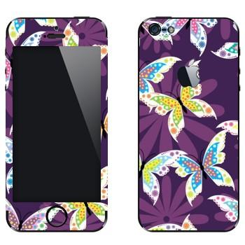 Виниловая наклейка «Гламурные бабочки» на телефон Apple iPhone 5