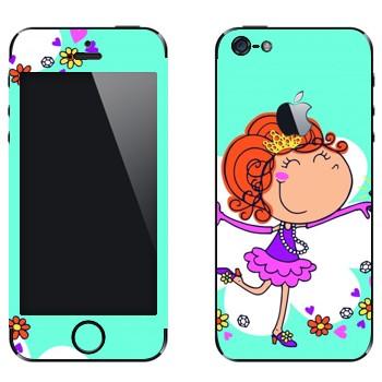 Виниловая наклейка «Маленькая принцесса» на телефон Apple iPhone 5