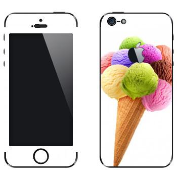 Виниловая наклейка «Мороженое разноцветные шарики» на телефон Apple iPhone 5