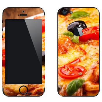 Виниловая наклейка «Пицца аппетитная» на телефон Apple iPhone 5