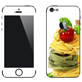 Виниловая наклейка «Цветная паста» на телефон Apple iPhone 5