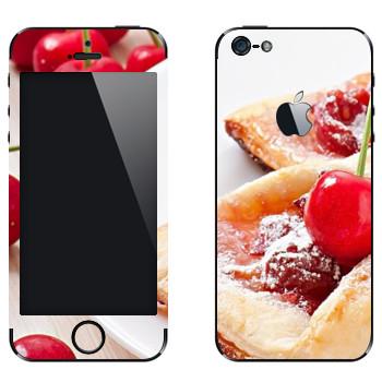 Виниловая наклейка «Вишневая булочка» на телефон Apple iPhone 5