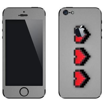 Виниловая наклейка «8-битное сердце» на телефон Apple iPhone 5
