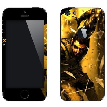 Виниловая наклейка «Adam Jensen - Deus Ex» на телефон Apple iPhone 5
