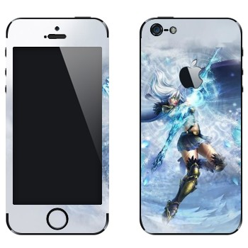 Виниловая наклейка «Ashe - Ледяная лучница» на телефон Apple iPhone 5