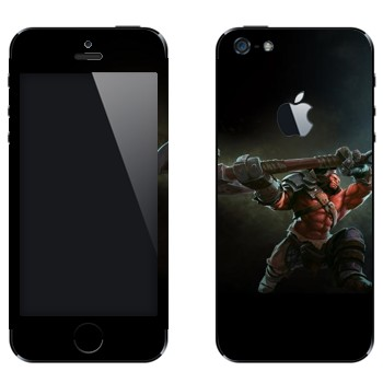Виниловая наклейка «Axe  - Dota 2» на телефон Apple iPhone 5