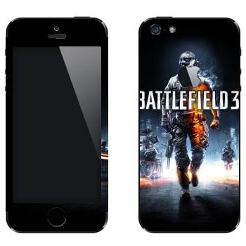 Виниловая наклейка «Battlefield 3» на телефон Apple iPhone 5