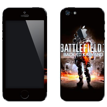 Виниловая наклейка «Battlefield: Back to Karkand» на телефон Apple iPhone 5