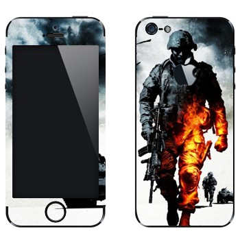 Виниловая наклейка «Battlefield: Bad Company 2» на телефон Apple iPhone 5
