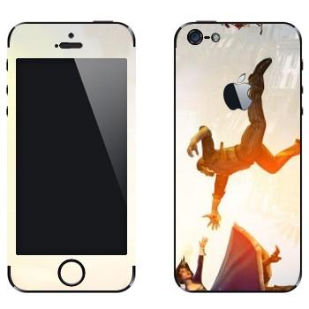 Виниловая наклейка «Bioshock» на телефон Apple iPhone 5