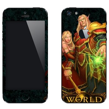 Виниловая наклейка «Blood Elves  - World of Warcraft» на телефон Apple iPhone 5