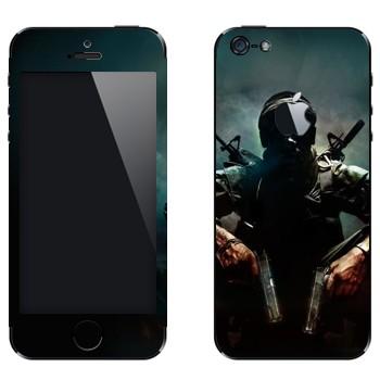 Виниловая наклейка «Call of Duty: Black Ops» на телефон Apple iPhone 5
