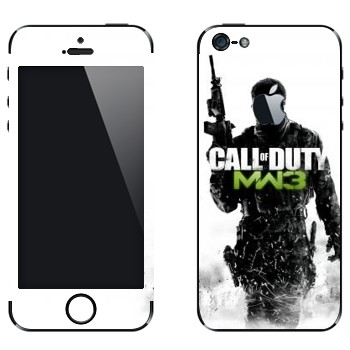 Виниловая наклейка «Call of Duty: Modern Warfare 3» на телефон Apple iPhone 5