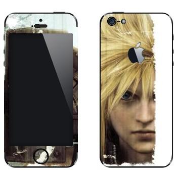 Виниловая наклейка «Cloud Strife - Final Fantasy» на телефон Apple iPhone 5