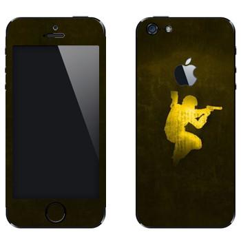 Виниловая наклейка «Counter Strike эмблема» на телефон Apple iPhone 5