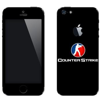 Виниловая наклейка «Counter Strike логотип» на телефон Apple iPhone 5