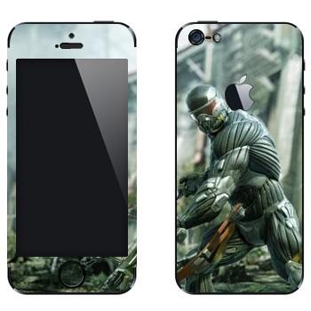 Виниловая наклейка «Crysis» на телефон Apple iPhone 5