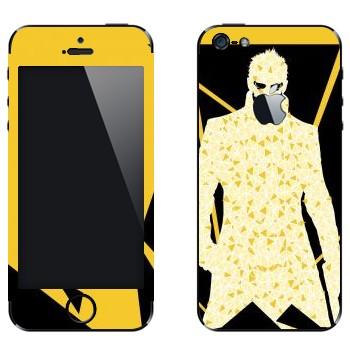 Виниловая наклейка «Deus Ex треугольниками» на телефон Apple iPhone 5