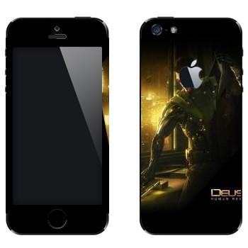 Виниловая наклейка «Deus Ex» на телефон Apple iPhone 5
