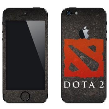 Виниловая наклейка «Dota 2  - Эмблема» на телефон Apple iPhone 5