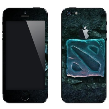 Виниловая наклейка «Dota 2 логотип» на телефон Apple iPhone 5