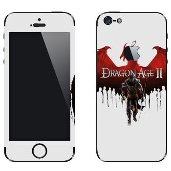 Виниловая наклейка «Dragon Age II» на телефон Apple iPhone 5