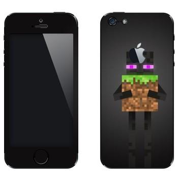 Виниловая наклейка «Enderman - Minecraft» на телефон Apple iPhone 5